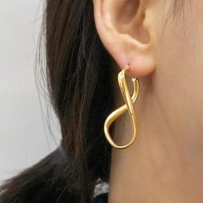 14K 뫼비우스 원터치 귀걸이 실버 925