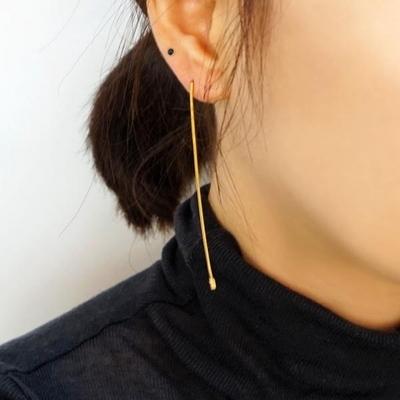 14K 롱 드롭 귀걸이