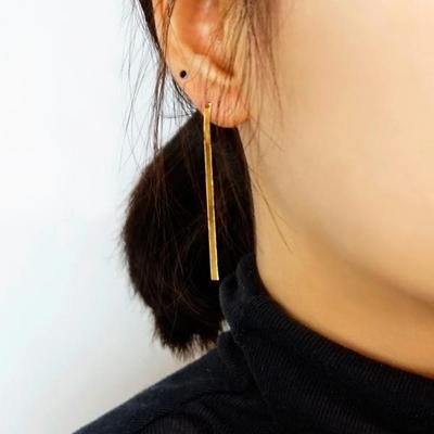 14K 스네이크 드롭 귀걸이