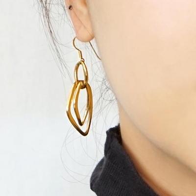 실버 925 14K 캐슬 귀걸이