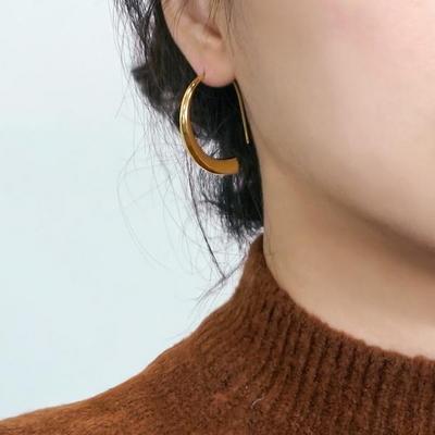 14K Gold Plating 오스카 귀걸이 925 실버