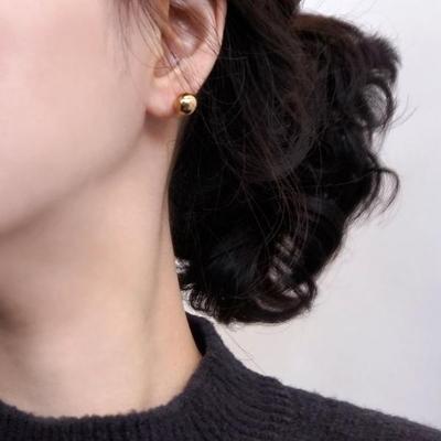 18K GOLD PLATING 캐슈넛 귀걸이 925 실버