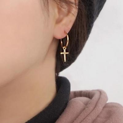 18K GOLD PLATING 킹스 크로스 귀걸이 실버 925