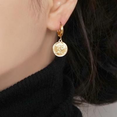 18K GOLD PLATING 베티 원터치 귀걸이 실버 925