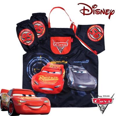 디즈니 정품 카3 아동 캐릭터 앞치마 세트