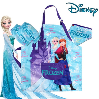 디즈니 정품 겨울왕국 아동 캐릭터 앞치마 세트
