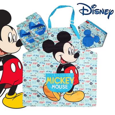 디즈니 정품 미키마우스 아동 캐릭터 앞치마 세트