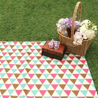 더해피 야외 캠핑 소풍 나들이 피크닉 테이블 방수 포켓 휴대용 다용도 1인용 돗자리 매트