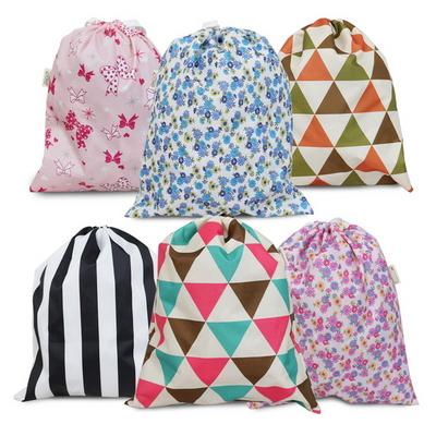 다용도 방수 조리개 가방 패턴 북유럽 핑크 파우치