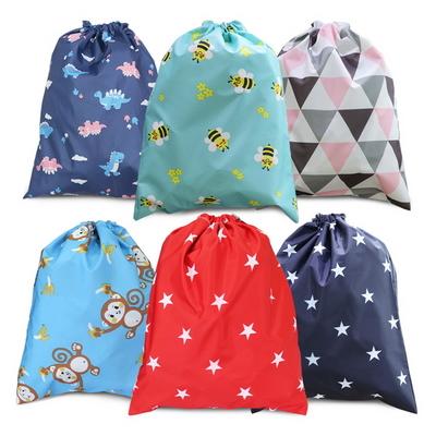 핸드메이드 다용도 방수 조리개 가방 별빛(네이비) 소풍 학교 학원 수영복 파우치 에코백 신주머니