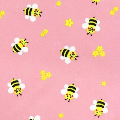 핸드메이드 아동용 버튼형 방수 앞치마-꿀벌(핑크)