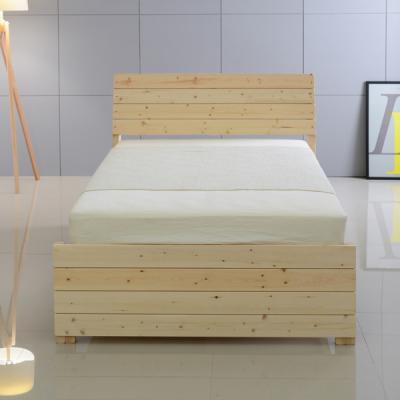 더스틴 등받이형 레드파인 원목 침대 슈퍼싱글SS