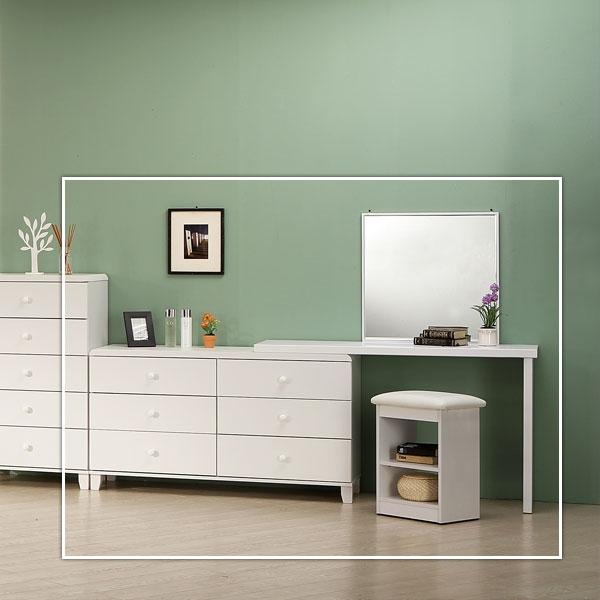 세라픽 확장형 화장대 풀세트 거울 의자 포함