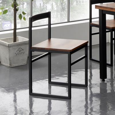 휘틀 멀바우 원목 스틸 의자