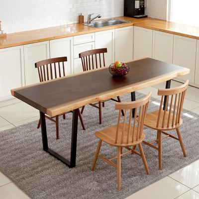 노리젠 우드슬랩 투톤 식탁테이블 2000