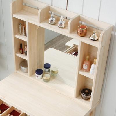 큐폴 편백 나무 화장대 수납 거울