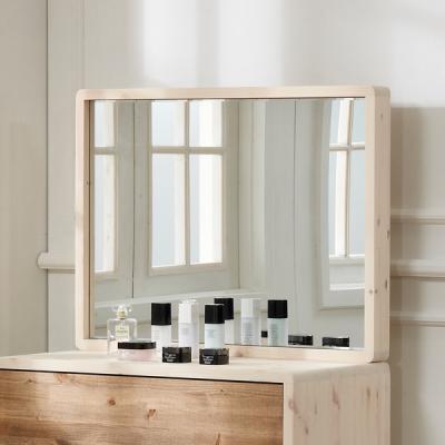 데코 레드파인 원목 거울
