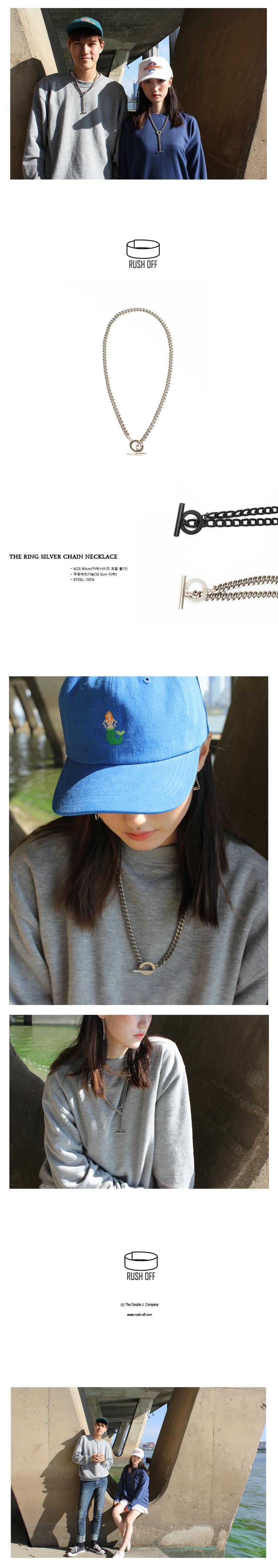 링 실버 체인 목걸이 - 러쉬오프, 18,900원, 패션, 패션목걸이