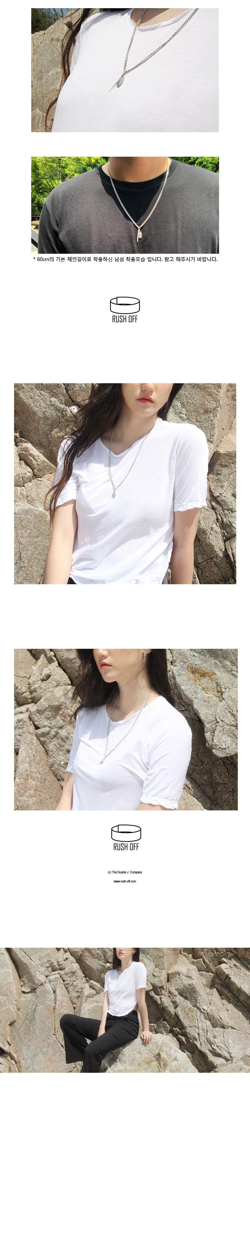 듀얼 실버 팬던트 목걸이(은도금) - 러쉬오프, 18,900원, 실버, 펜던트목걸이