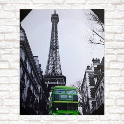 프랑스 초록버스 아트액자