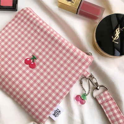 pink cherry pouch