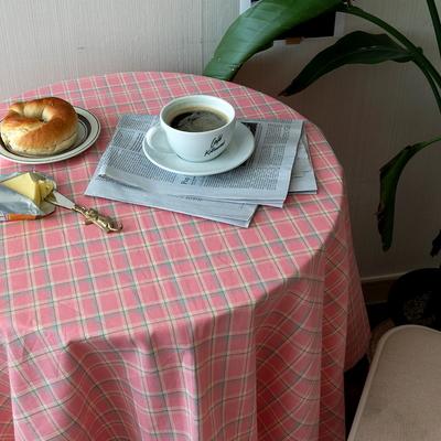 온더소프트핑크체크 2size 자체제작 식탁보 테이블보 테이블러너