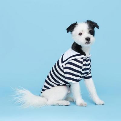 플로트 강아지옷 마린 셔츠 네이비