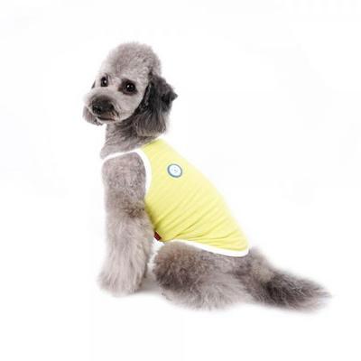 강아지옷 쿨썸머 나시 -네온옐로우