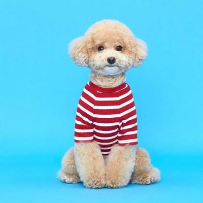 플로트 스탠다드 골지티셔츠 레드 강아지용품