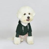 플로트 스탠다드 후드 딥그린 강아지옷