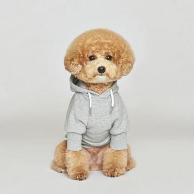 플로트 스탠다드 후드 그레이 강아지옷
