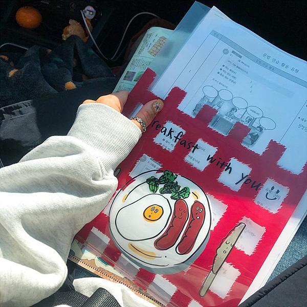 Breakfast L홀더 - 모닝롤프레스, 3,000원, 파일/클립보드, 엘홀더/인덱스 화일