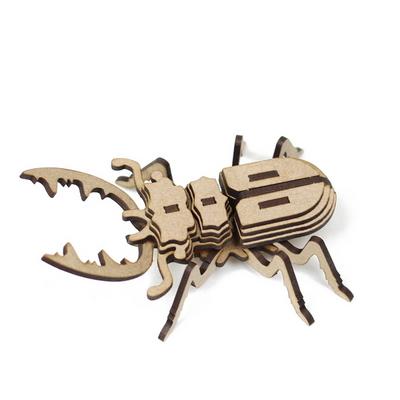 사슴벌레 만들기 입체퍼즐