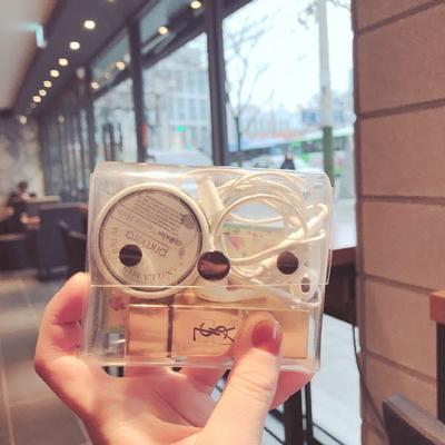 투명 사각 파우치(카드지갑)