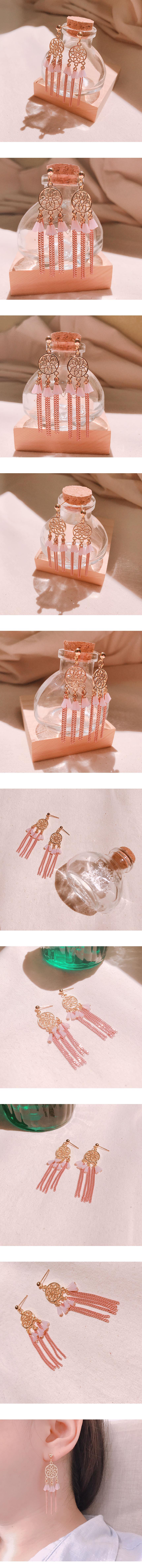 드림캐쳐 드롭 귀걸이 - 효효, 14,500원, 실버, 드롭귀걸이