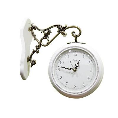 데일리데코 원목 큐빅 양면시계