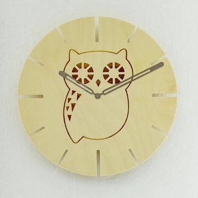 아름데코 큐티 자작나무 동물 벽시계