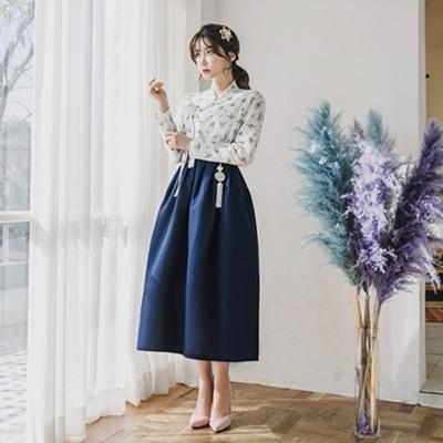 생활한복세트 용담 저고리 + 차미 허리치마