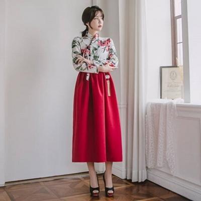생활한복세트 아리솔저고리 + 꽃잠 허리치마
