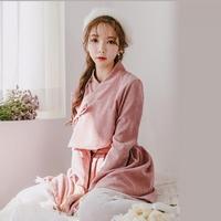 생활한복세트 분홍화+미니 핑크