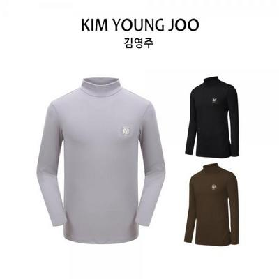 김영주 남성 부드러운 반목 폴라 티셔츠 KS8WMTS056