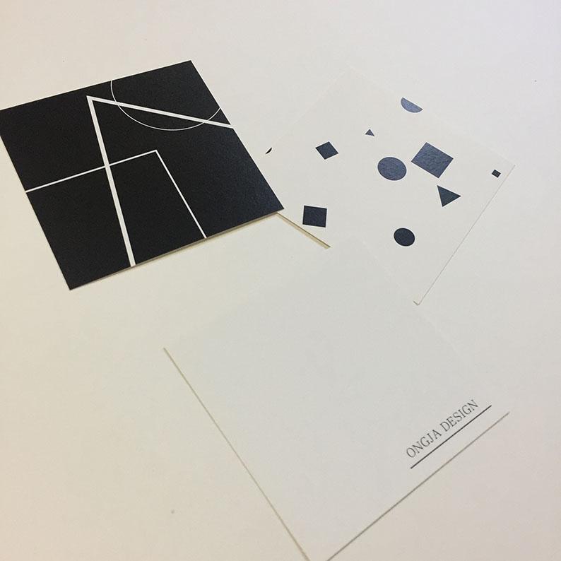 흑과백카드 - 옹쟈, 3,400원, 카드, 디자인 카드