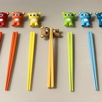 유아 아동 연습용 교정용 곰돌이 젓가락 10color