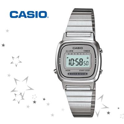 카시오 LA670WA-7 메탈 여성 패션 디지털 손목 시계