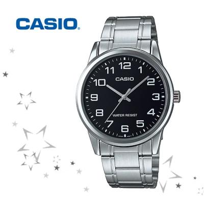 카시오 MTP-V001D-1B 남성 메탈밴드 손목시계