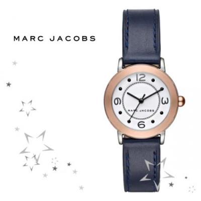 MJ1604 네이비 가죽 시계