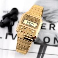 빈티지 골드 메탈 디지털 시계 A100WEG-9A