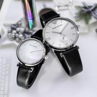 AR90003 남성 여성 커플 클래식 가죽 시계