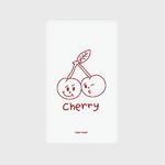 (보조배터리)-Twin cherries-white