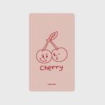 (보조배터리)-Twin cherries-Indy pink